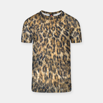 Thumbnail image of Leopard Cheetah Fur Wildlife Print Pattern T-shirt, Live Heroes