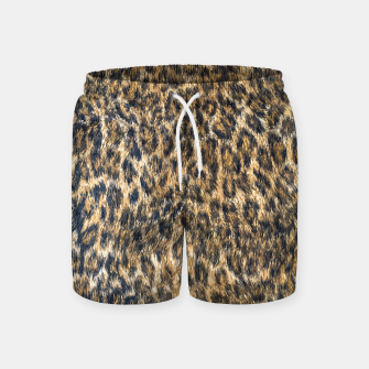Leopard Cheetah Fur Wildlife Print Pattern Swim Shorts Bild der Miniatur
