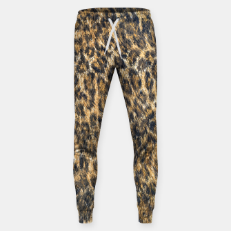 Leopard Cheetah Fur Wildlife Print Pattern Sweatpants Bild der Miniatur