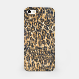 Leopard Cheetah Fur Wildlife Print Pattern iPhone Case Bild der Miniatur