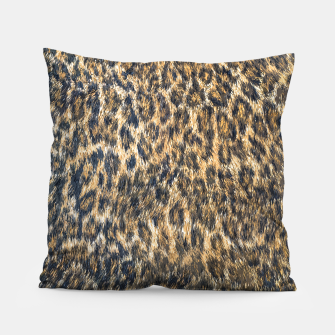 Leopard Cheetah Fur Wildlife Print Pattern Pillow Bild der Miniatur