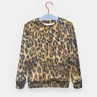 Leopard Cheetah Fur Wildlife Print Pattern Kid's sweater Bild der Miniatur