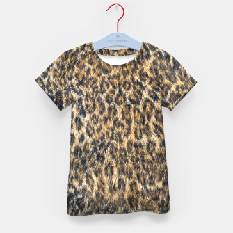 Leopard Cheetah Fur Wildlife Print Pattern Kid's t-shirt Bild der Miniatur