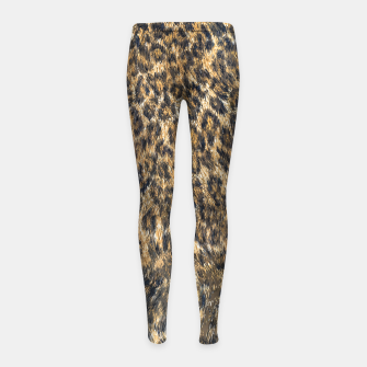 Leopard Cheetah Fur Wildlife Print Pattern Girl's leggings Bild der Miniatur