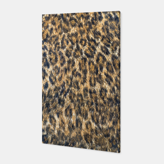 Leopard Cheetah Fur Wildlife Print Pattern Canvas Bild der Miniatur