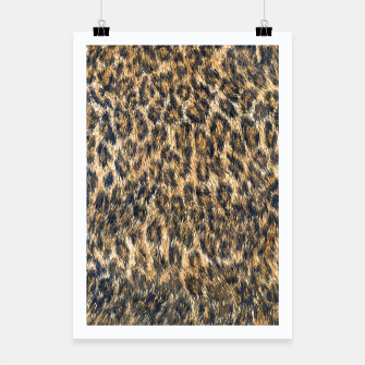 Thumbnail image of Leopard Cheetah Fur Wildlife Print Pattern Poster, Live Heroes