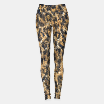 Leopard Cheetah Fur Wildlife Print Pattern Leggings Bild der Miniatur