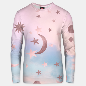Thumbnail image of Pastel Starry Sky Moon Dream #2 #decor #art Unisex sweatshirt, Live Heroes