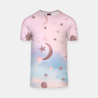 Thumbnail image of Pastel Starry Sky Moon Dream #2 #decor #art T-Shirt, Live Heroes