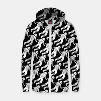 Spaceman pattern Zip up hoodie miniature