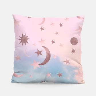 Thumbnail image of Pastel Starry Sky Moon Dream #2 #decor #art Kissen, Live Heroes