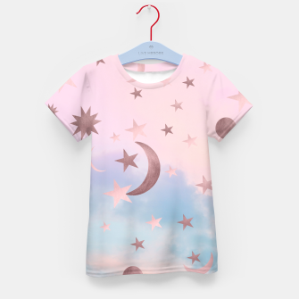Thumbnail image of Pastel Starry Sky Moon Dream #2 #decor #art T-Shirt für kinder, Live Heroes