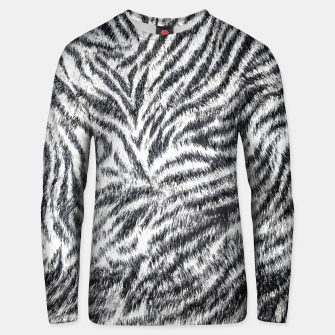 White Bengal Tiger Fur Wildlife Print Pattern Unisex sweater Bild der Miniatur