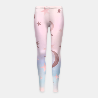 Thumbnail image of Pastel Starry Sky Moon Dream #2 #decor #art Kinder-Leggins, Live Heroes