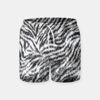 White Bengal Tiger Fur Wildlife Print Pattern Swim Shorts Bild der Miniatur