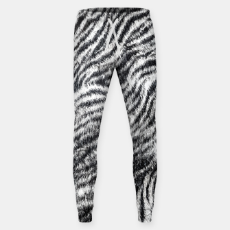 White Bengal Tiger Fur Wildlife Print Pattern Sweatpants Bild der Miniatur
