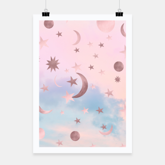 Miniatur Pastel Starry Sky Moon Dream #2 #decor #art Plakat, Live Heroes