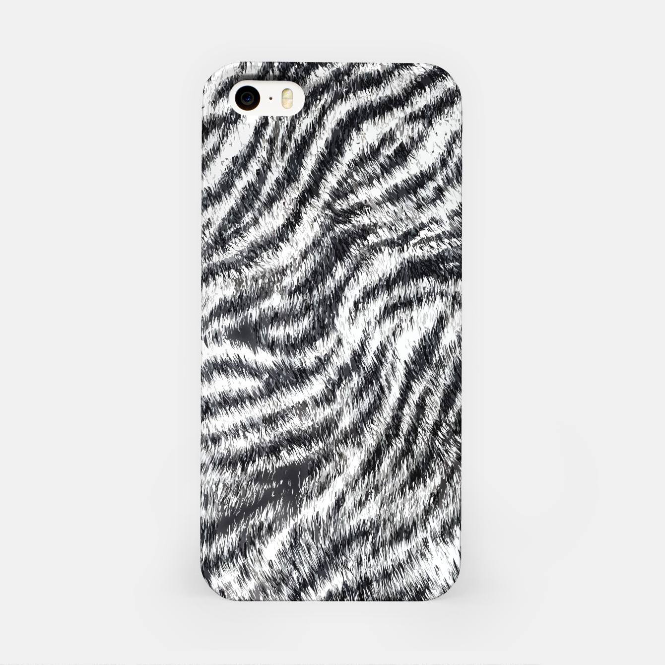 Image of White Bengal Tiger Fur Wildlife Print Pattern iPhone Case - Live Heroes
