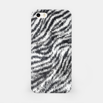 Miniatur White Bengal Tiger Fur Wildlife Print Pattern iPhone Case, Live Heroes