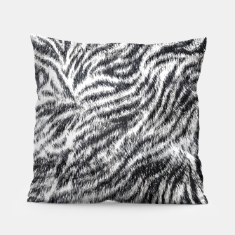 Miniatur White Bengal Tiger Fur Wildlife Print Pattern Pillow, Live Heroes