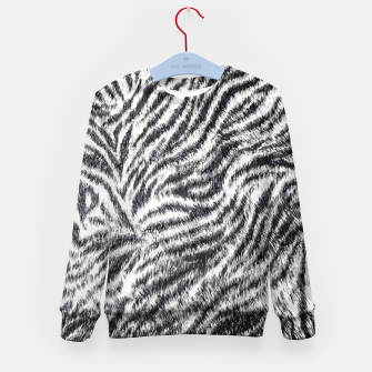 White Bengal Tiger Fur Wildlife Print Pattern Kid's sweater Bild der Miniatur
