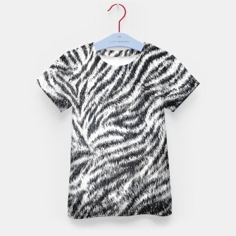 White Bengal Tiger Fur Wildlife Print Pattern Kid's t-shirt Bild der Miniatur