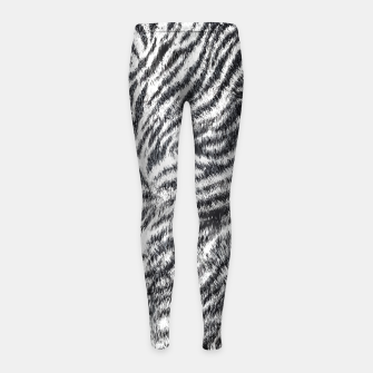 White Bengal Tiger Fur Wildlife Print Pattern Girl's leggings Bild der Miniatur