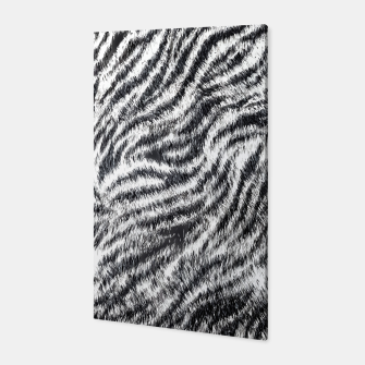Miniatur White Bengal Tiger Fur Wildlife Print Pattern Canvas, Live Heroes