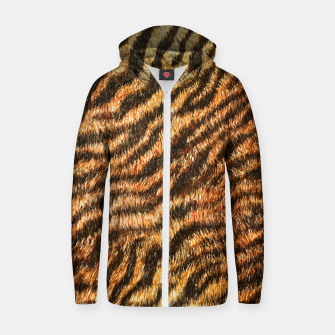 Bengal Tiger Fur Wildlife Print Pattern Zip up hoodie thumbnail image