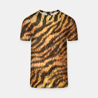 Bengal Tiger Fur Wildlife Print Pattern T-shirt thumbnail image