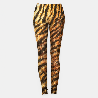 Bengal Tiger Fur Wildlife Print Pattern Leggings Bild der Miniatur