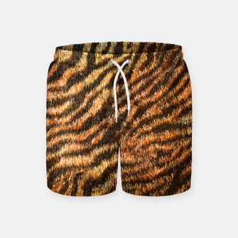 Bengal Tiger Fur Wildlife Print Pattern Swim Shorts Bild der Miniatur
