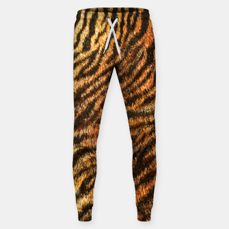 Miniatur Bengal Tiger Fur Wildlife Print Pattern Sweatpants, Live Heroes