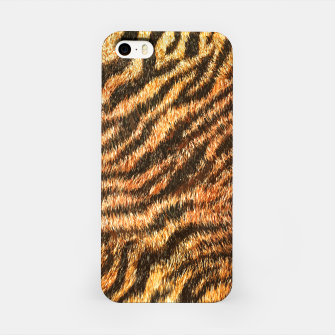 Miniatur Bengal Tiger Fur Wildlife Print Pattern iPhone Case, Live Heroes