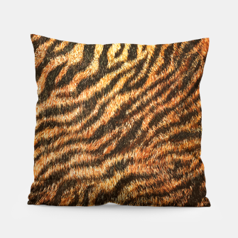 Miniatur Bengal Tiger Fur Wildlife Print Pattern Pillow, Live Heroes