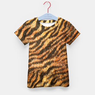 Bengal Tiger Fur Wildlife Print Pattern Kid's t-shirt Bild der Miniatur