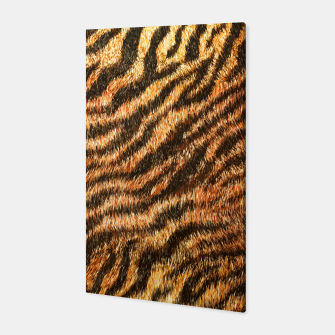 Miniatur Bengal Tiger Fur Wildlife Print Pattern Canvas, Live Heroes