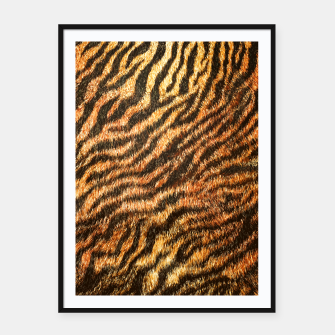 Bengal Tiger Fur Wildlife Print Pattern Framed poster thumbnail image
