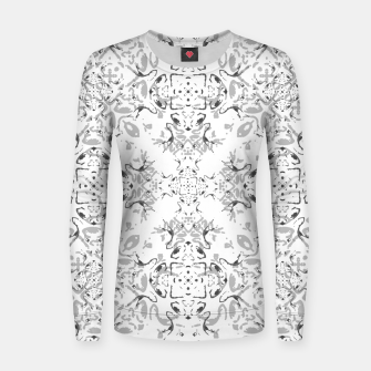 Black and White Decorative Ornate Pattern Women sweater miniature