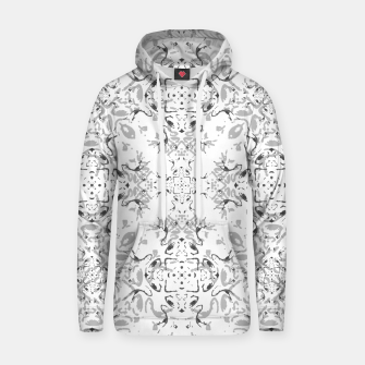 Black and White Decorative Ornate Pattern Hoodie miniature