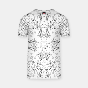 Black and White Decorative Ornate Pattern T-shirt miniature