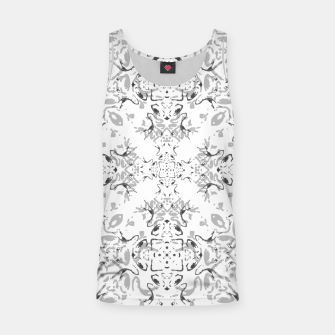 Black and White Decorative Ornate Pattern Tank Top miniature