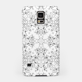 Black and White Decorative Ornate Pattern Samsung Case miniature
