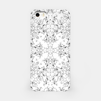 Black and White Decorative Ornate Pattern iPhone Case miniature