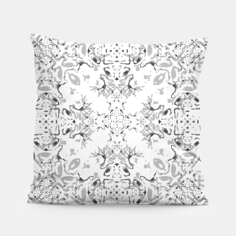 Black and White Decorative Ornate Pattern Pillow miniature