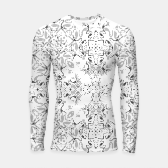 Black and White Decorative Ornate Pattern Longsleeve rashguard  miniature