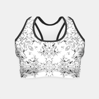 Black and White Decorative Ornate Pattern Crop Top miniature