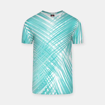Soft Turquoise Palm Leaves Dream - Cali Summer Vibes #3 #tropical #decor #art T-Shirt miniature
