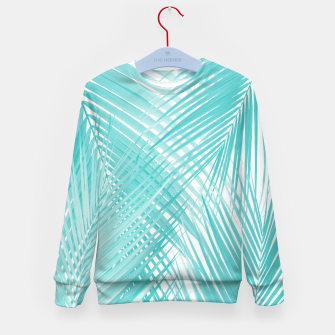 Miniature de image de Soft Turquoise Palm Leaves Dream - Cali Summer Vibes #3 #tropical #decor #art Kindersweatshirt, Live Heroes