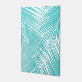 Soft Turquoise Palm Leaves Dream - Cali Summer Vibes #3 #tropical #decor #art Canvas miniature